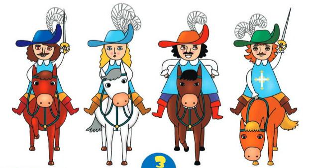 Картинки мушкетеров на коне для детей, поздравления днем